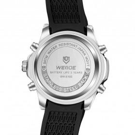 Weide Jam Tangan Pria Silicone - WH6105 - Black/Blue - 5