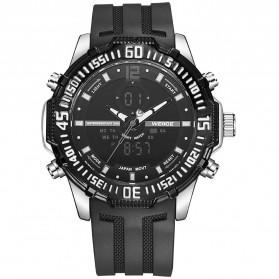 Weide Jam Tangan Pria Silicone - WH6105 - Black