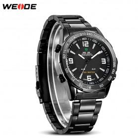 Weide Jam Tangan Sporty Pria - WH1009 - Black/Black