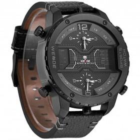 Weide Japan Quartz Leather Strap Men Sports Watch - WH6401 - Black/Black - 2