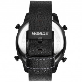 Weide Japan Quartz Leather Strap Men Sports Watch - WH6401 - Black/Black - 3
