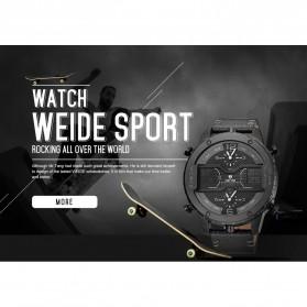 Weide Japan Quartz Leather Strap Men Sports Watch - WH6401 - Black/Black - 4