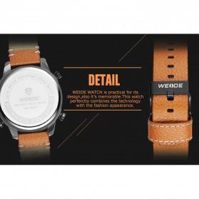 Weide Japan Quartz Leather Strap Men Sports Watch - WH6401 - Black/Black - 5
