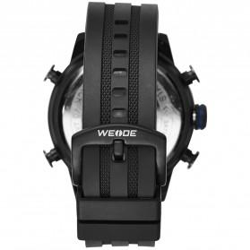 Weide Jam Tangan Digital Analog Strap Silicone - WH6308 - Black/Blue - 4