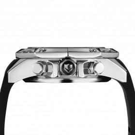 Weide Jam Tangan Analog Strap Silicone - WH6406 - Black/Silver - 3