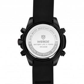 Weide Jam Tangan Analog Strap Silicone - WH6406 - Black/Silver - 4