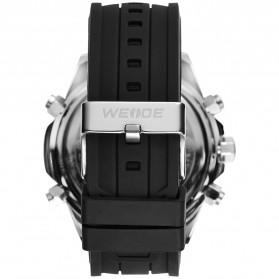 Weide Jam Tangan Analog Strap Silicone - WH6406 - Black/Silver - 5