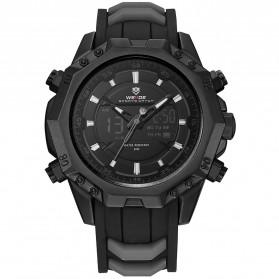 Weide Jam Tangan Analog Strap Silicone - WH6406 - Black/Black