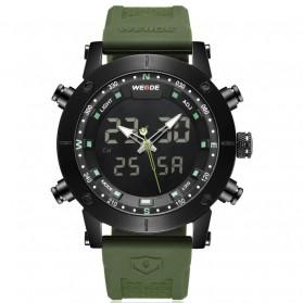 Weide Jam Tangan Analog Digital Pria - WH6309 - Black/Green