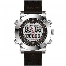 Weide Jam Tangan Analog Digital Pria - WH6309 - White/Black