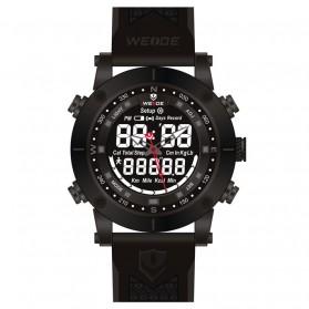 Weide Jam Tangan Analog Digital Pria - WH6309 - Black/Black