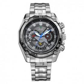 Weide Jam Tangan Analog Digital Pria - WH1011 - Silver Black