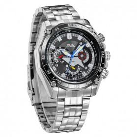 Weide Jam Tangan Analog Digital Pria - WH1011 - Silver Black - 2