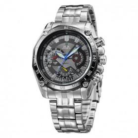 Weide Jam Tangan Analog Digital Pria - WH1011 - Silver Black - 3