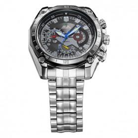 Weide Jam Tangan Analog Digital Pria - WH1011 - Silver Black - 4