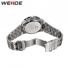 Weide Jam Tangan Analog Digital Pria - WH1011 - Silver Black - 5