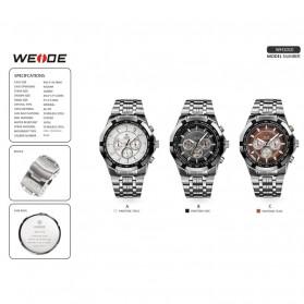 Weide Jam Tangan Analog Digital Pria - WH1011 - Silver Black - 7
