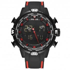 Weide Jam Tangan Analog Digital - WH6310 - Black/Red