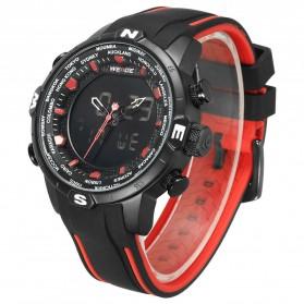 Weide Jam Tangan Analog Digital - WH6310 - Black/Red - 2