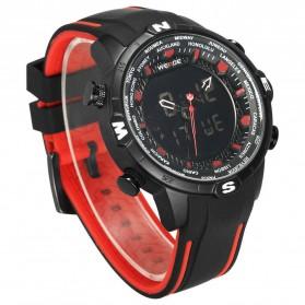 Weide Jam Tangan Analog Digital - WH6310 - Black/Red - 3