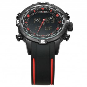 Weide Jam Tangan Analog Digital - WH6310 - Black/Red - 4