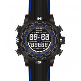 Weide Jam Tangan Analog Digital - WH6310 - Black/Blue - 2