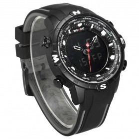 Weide Jam Tangan Analog Digital - WH6310 - Black/Black - 3