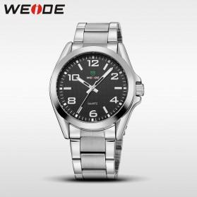 Weide Jam Tangan Analog Pria - WH801 - Silver Black - 2
