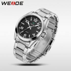 Weide Jam Tangan Analog Pria - WH801 - Silver Black - 3