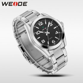 Weide Jam Tangan Analog Pria - WH801 - Silver Black - 4