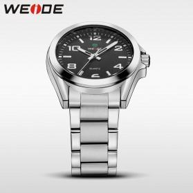 Weide Jam Tangan Analog Pria - WH801 - Silver Black - 5
