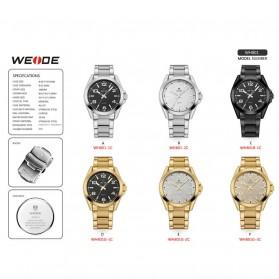 Weide Jam Tangan Analog Pria - WH801 - Silver Black - 7