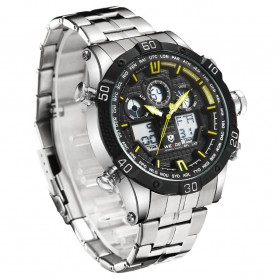 Weide Jam Tangan Sporty Stainless Steel - WH6901 - Black/Yellow - 3