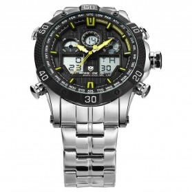 Weide Jam Tangan Sporty Stainless Steel - WH6901 - Black/Yellow - 4