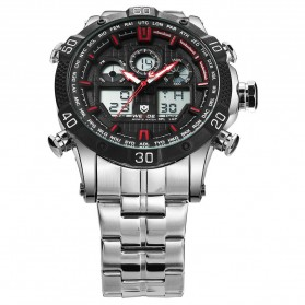 Weide Jam Tangan Sporty Stainless Steel - WH6901 - Black/Red - 4