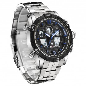 Weide Jam Tangan Sporty Stainless Steel - WH6901 - Black/Blue - 3