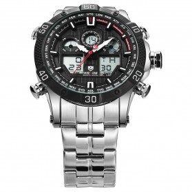 Weide Jam Tangan Sporty Stainless Steel - WH6901 - Black White - 4