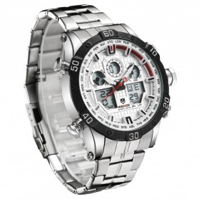 Weide Jam Tangan Sporty Stainless Steel - WH6901 - White/Black - 3