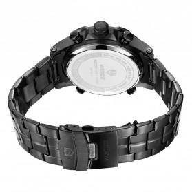 Weide Jam Tangan Digital Analog Pria Strap Stainless Steel - WH6902 - Black/Blue - 5