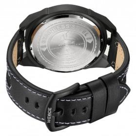 Weide Jam Tangan Kulit Analog Pria - UV1703 - Black/Black - 5