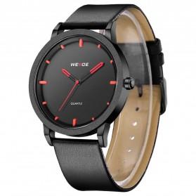 Weide Jam Tangan Kulit Analog Pria - WD001B - Black/Red - 3