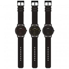 Weide Jam Tangan Kulit Analog Pria - WD001B - Black/Red - 6