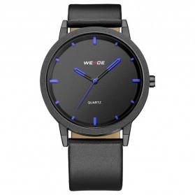Weide Jam Tangan Kulit Analog Pria - WD001B - Black Blue