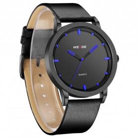 Weide Jam Tangan Kulit Analog Pria - WD001B - Black Blue - 2