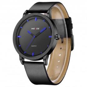 Weide Jam Tangan Kulit Analog Pria - WD001B - Black Blue - 3