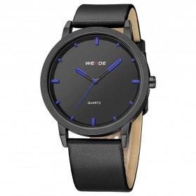 Weide Jam Tangan Kulit Analog Pria - WD001B - Black Blue - 4