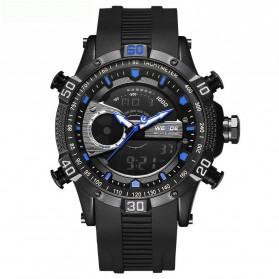 Weide Jam Tangan Digital Analog Pria Strap Silicone - WH6902 - Black/Blue