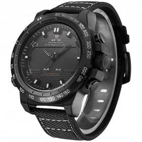Weide Jam Tangan Analog Pria - WH6102 - Black/Black