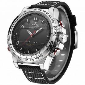 Weide Jam Tangan Analog Pria - WH6102 - Silver Black