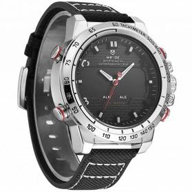 Weide Jam Tangan Analog Pria - WH6102 - Silver Black - 3